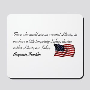Give up essential Liberty Mousepad