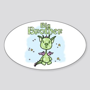 Lil Dragon Big Brother Oval Sticker