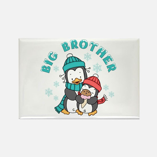 Cute Penguins Big Brother Rectangle Magnet