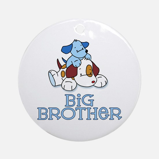 Cute Puppys Big Brother Ornament (Round)