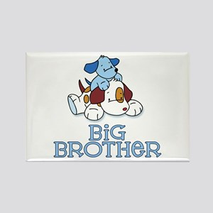 Cute Puppys Big Brother Rectangle Magnet