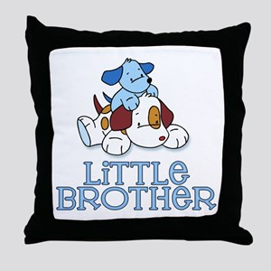 Cute Puppys Little Brother Throw Pillow