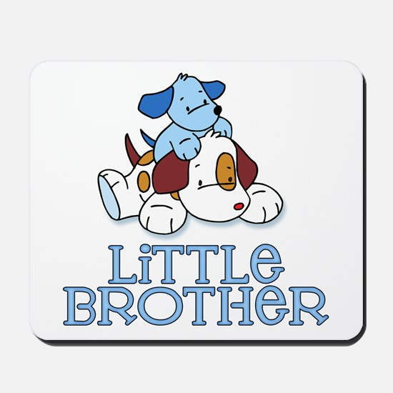 Cute Puppys Little Brother Mousepad