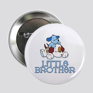 """Cute Puppys Little Brother 2.25"""" Button"""