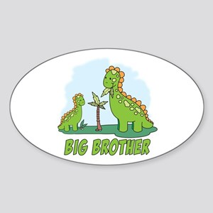 Dino Duo Big Brother Oval Sticker