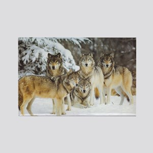 """""""Wolf Pack"""" Rectangle Magnet"""