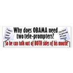 Why Does Obama Need Two Telep Sticker (Bumper 10 p