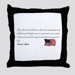 Experienced Patriots Needed Throw Pillow