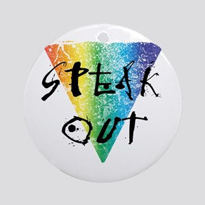 Speak Out Ornament (Round)