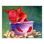 salsa dog Small Poster