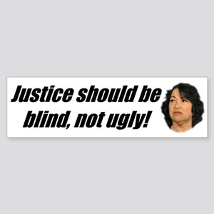Ugly Justice Bumper Sticker