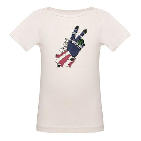 Peace Hand Organic Baby T-Shirt