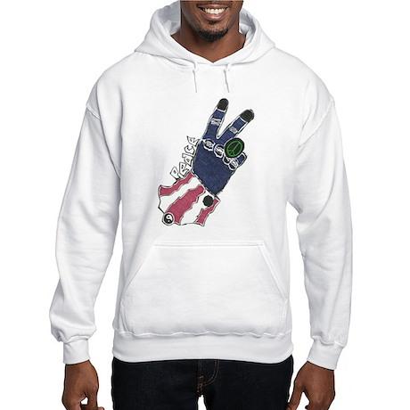Peace Hand Hooded Sweatshirt