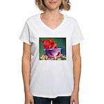 salsa dog Women's V-Neck T-Shirt