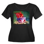 salsa dog Women's Plus Size Scoop Neck Dark T-Shir