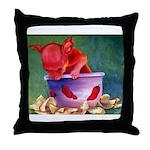salsa dog Throw Pillow