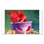 salsa dog Rectangle Sticker 50 pk)