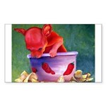 salsa dog Rectangle Sticker 10 pk)