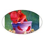 salsa dog Oval Sticker (50 pk)