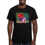 salsa dog Men's Fitted T-Shirt (dark)