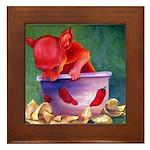 salsa dog Framed Tile