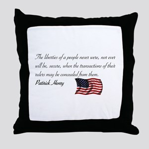 Concealing the Truth Throw Pillow