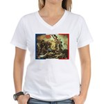 Bastille Day Women's V-Neck T-Shirt