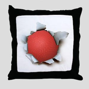 Dodgeball Burster Throw Pillow