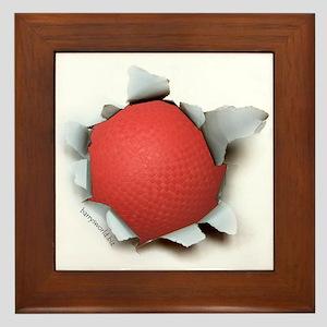 Dodgeball Burster Framed Tile