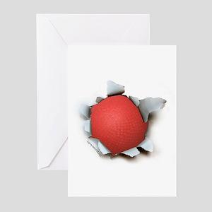Dodgeball Burster Greeting Cards (Pk of 20)
