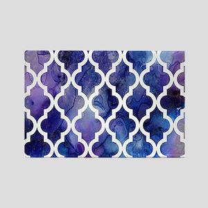 Purple Galaxy Moroccan Pattern Rectangle Magnet
