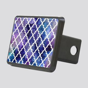 Purple Galaxy Moroccan Pat Rectangular Hitch Cover