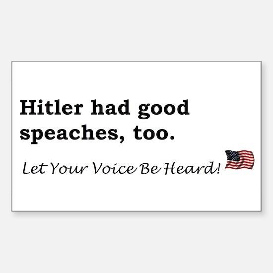 Hitler Rectangle Decal