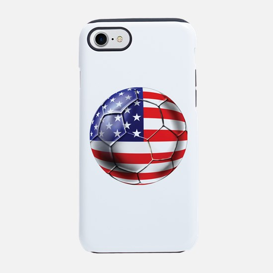 USA Soccer Ball iPhone 7 Tough Case