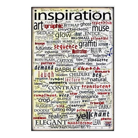 English Brainstorming Poster Postcards (Package of