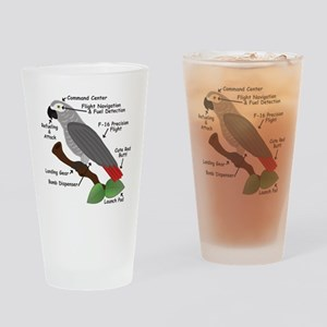 Anatomy of an African Grey Parrot Drinking Glass