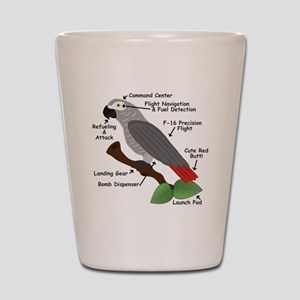 Anatomy of an African Grey Parrot Shot Glass