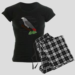 Anatomy of an African Grey Parrot Pajamas