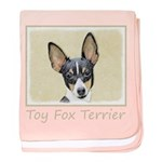 Toy Fox Terrier baby blanket