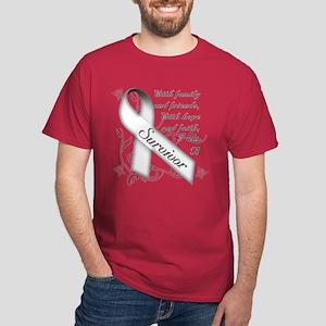 Lung Cancer Survivor Dark T-Shirt