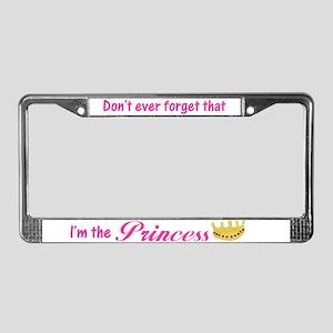 I'm the Princess License Plate Frame