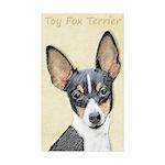 Toy Fox Terrier Sticker (Rectangle 10 pk)