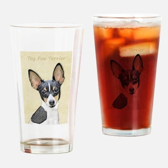 Toy Fox Terrier Drinking Glass
