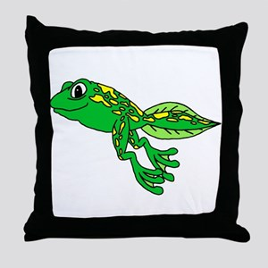 Happy Tadpole Throw Pillow