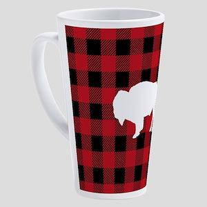 Buffalo Plaid: Bison 17 oz Latte Mug