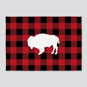 Buffalo Plaid: Bison 5'x7'Area Rug