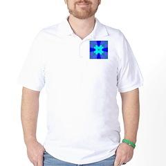 Occult Blues Design Golf Shirt