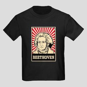 Pop Art Beethoven Kids Dark T-Shirt