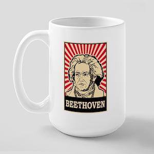 Pop Art Beethoven Large Mug