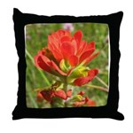 Red Indian Paint Throw Pillow